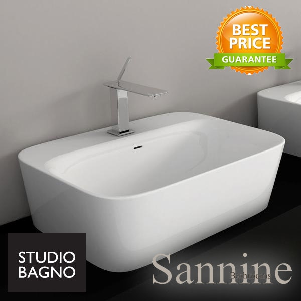 Studio Bagno Soul 4h Bench Mounted Basin Above Counter