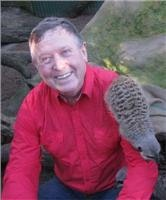 Garth with Meerkat mate at Mogo Zoo 10km south of Batemans Bay