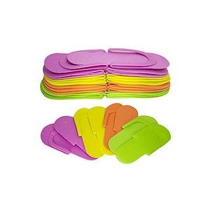 Pedicure Foam Slippers Professional Nail Salon (12 Pairs)
