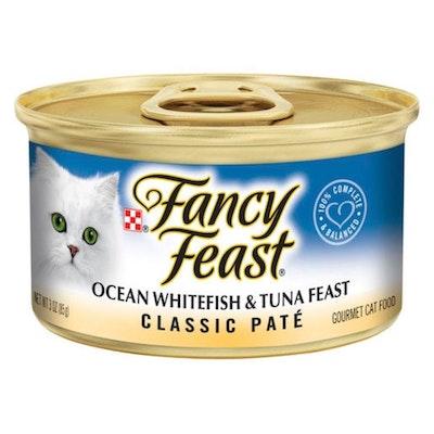 Fancy Feast Classic Pate Ocean Whitefish & Tuna Feast Wet Cat Food