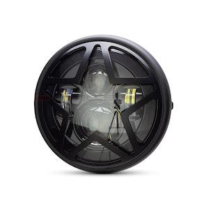"7.7"" Multi Projector Headlight with Big Star Grill - Matte Black"