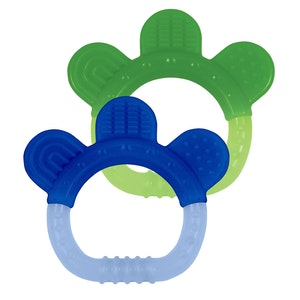 green sprouts Silicone Teether (2pk)-Blue Set-3mo+