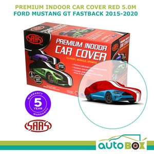 Red Indoor Premium SAAS Show Car Cover Suit Ford Mustang GT Fastback 2015-2020