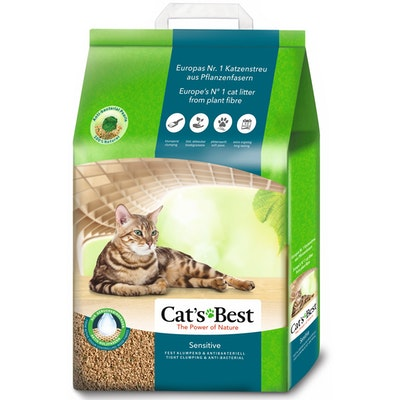 Cats Best Sensitive Bio Degradable Compostable Kitty Litter - 2 Sizes