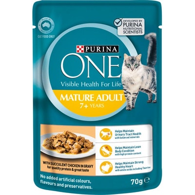 Purina One Senior 7+ Chicken Pouch Wet Cat Food 70G