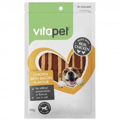 Vitapet Chicken & Bacon Jerhigh Dog Treat 100G