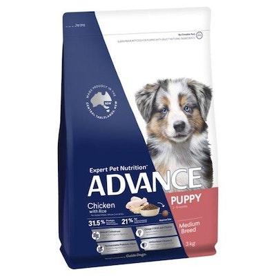 Advance Dry Dog Food Puppy Medium Breed Chicken 3kg