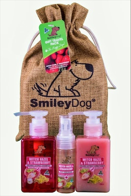 Smiley Dog Gift Pack Withazel and Strawberry