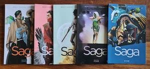 Saga comics V1-5