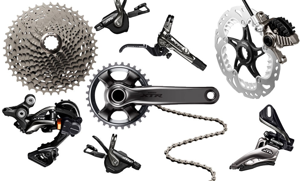fullpage Shimano xtr mountain bike groupset
