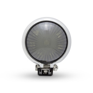 Mini Bates Style LED Stop Tail Light - Black & Chrome