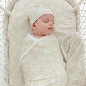 Anchor & Arrow Fitted Jersey Cotton Bassinet Sheet/Change Table Cover - Sandy Shell