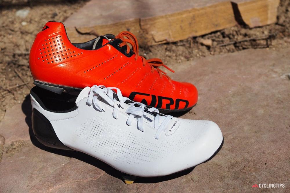 fullpage Specialized S Works Sub6 shoes Giro comparison