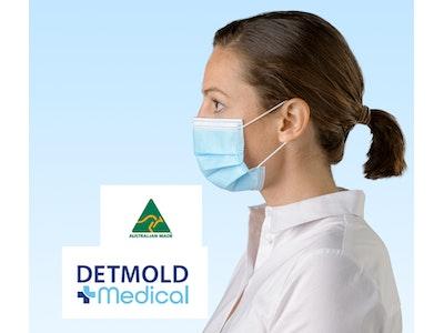 Detmold Medical Australian Made Level 3 Surgical Mask (standard ear loop or short ear loop) - Carton of 960 masks