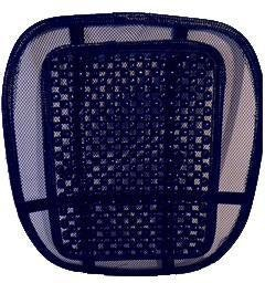 Universal Mesh Back Support With Plastic Spikes | Black