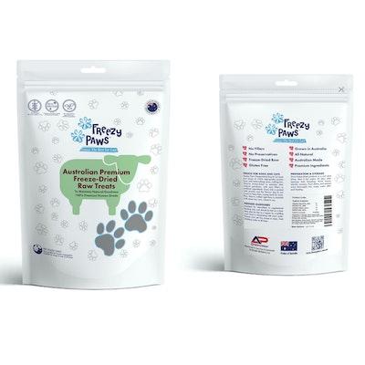 Freezy Paws Premium Freeze-Dried Lamb Heart Raw Treats 100g