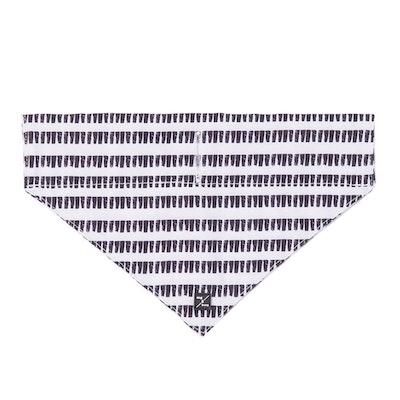 Mog & Bone Dog Bandana Black & White Mosaic Print - 3 Sizes