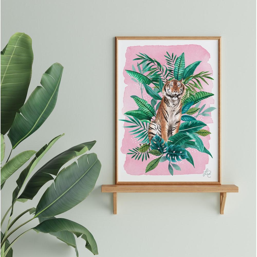 Laura Elizabeth Illustrations Tiger Fine Art Print