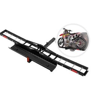 Steel Motorcycle Carrier Motorbike Rack Dirt Bike Ramp 2″ Towbar Steel