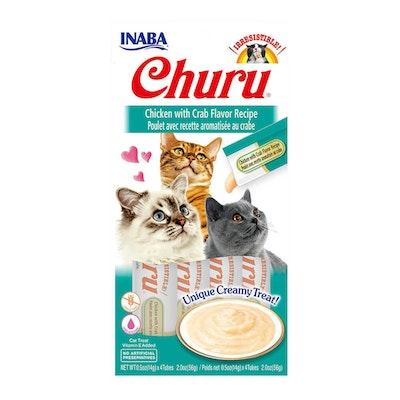 INABA Churu Creamy Cat Treat Chicken w/ Crab Flavour Recipe 6 x 56g