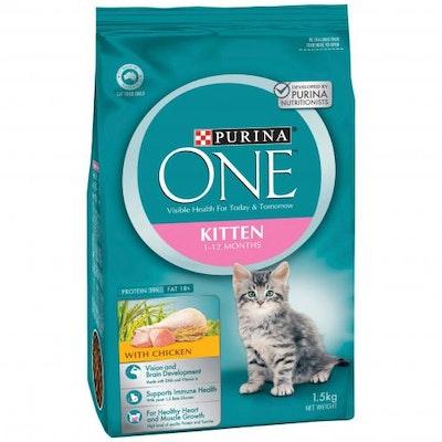 PURINA ONE Kitten Chicken Dry Cat Food 1.5kg