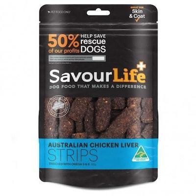 Savourlife Australian Liver Strips Dog Treats 165G