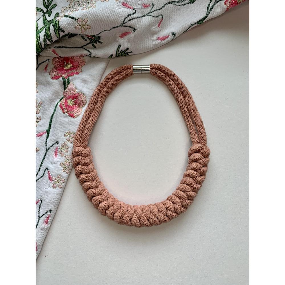 Form Norfolk Snake Knot Necklace In Blush Pink