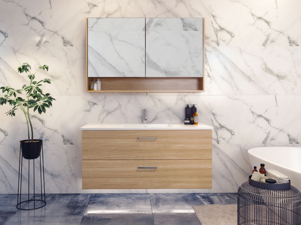 Timberline Nevada Plus Vanity Range Wall Hung With Alpha
