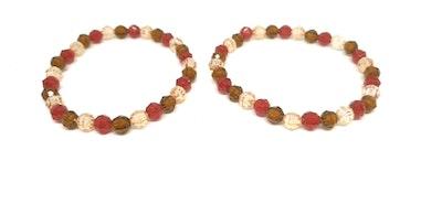 Rayhana's Store Sydney beaded bracelets x2 red