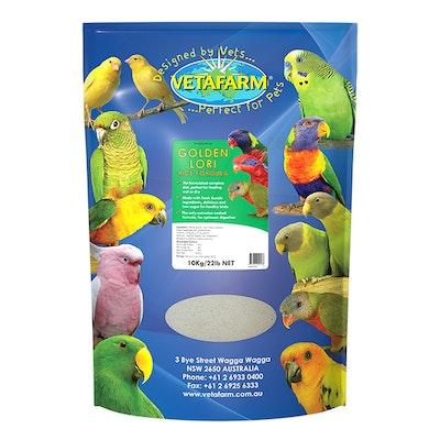 Vetafarm Golden Lori Lorikeets Rice Exotic Pet food Bird Formula - 3 Sizes