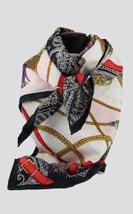 Hitchley & Harrow D6 Multi Print Silk Premium Scarf
