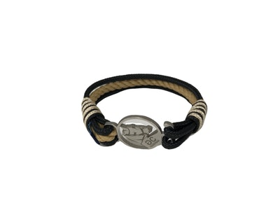 Breeze Black & Beige Rope Bracelet
