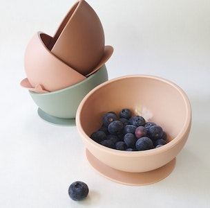 Dove and Dovelet Silicone Suction Bowl & Spoon Set