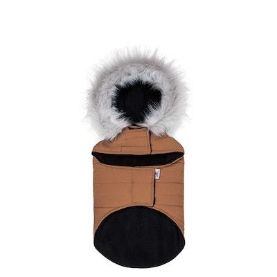TOUCHDOG Insulated Winter Dog Coat Parka Brown