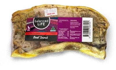 BALANCED LIFE Beef Snout Dog Treat 1 Piece