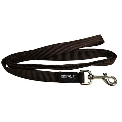 Prestige Pet Products Prestige Pet Single Ply Dog Leash Brown 3/4 Inch - 2 Sizes