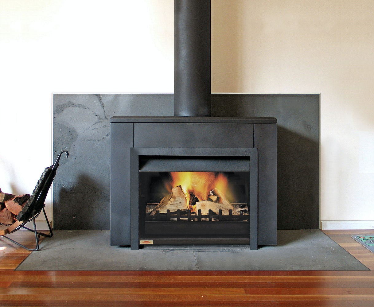 Jetmaster freestanding open wood fireplace wood for New construction wood burning fireplace