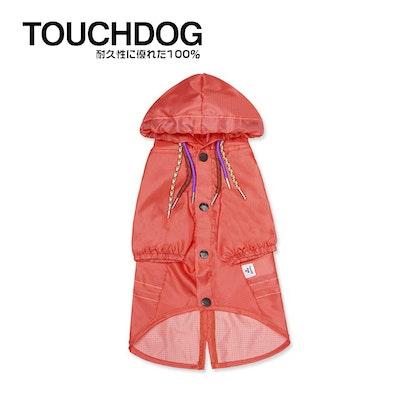 TOUCHDOG Split-Vent Designer Waterproof Dog Raincoat Pink