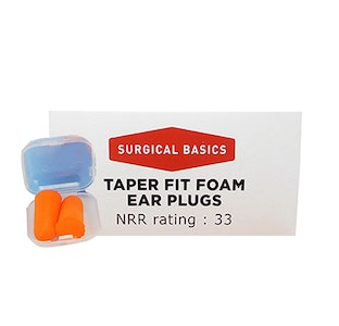 Surgical Basics Taper Fit Foam Ear Plugs Noise Reduction