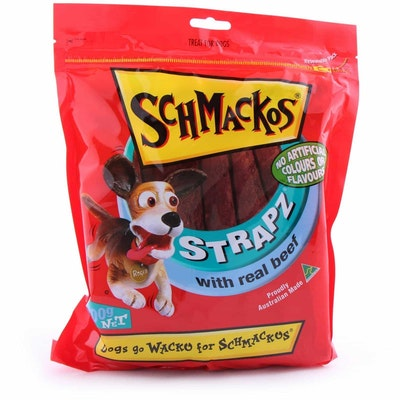 Schmackos  Beef Strapz  Dog Treats