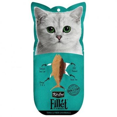 KIT CAT Tuna & Fibre Hairball Fillet Fresh Cat Treats 30G