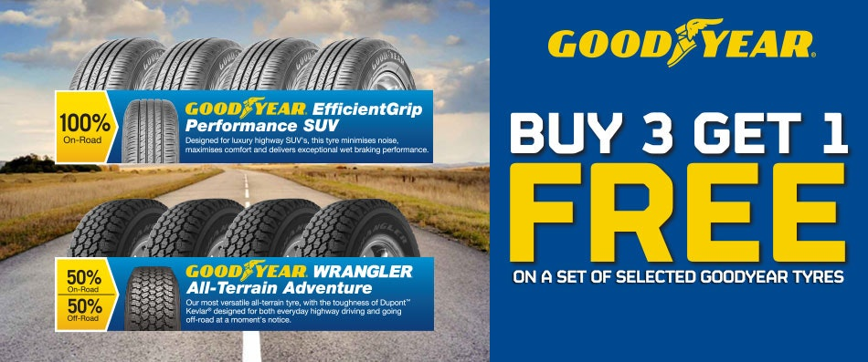 Goodyear Buy 3 Get 1 Free Promotion