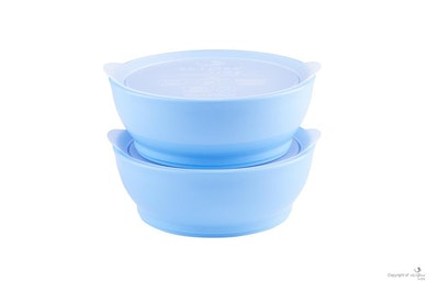 eLIPse Kids - Stage 3 Spill Proof Bowl Set with Lids 12oz (2pc)