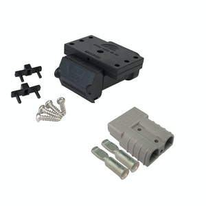 50A Anderson Plug Mounting Kit with LED and 50 amp Anderson Style Plug