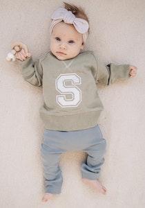 Personalised Varsity Sweater - Sage