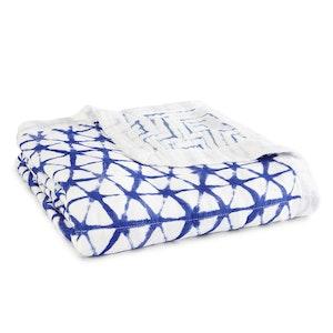 aden + anais indigo silky soft bamboo muslin dream blanket