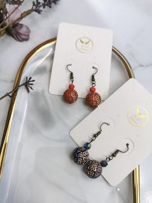 LinqGlo Collections Sarawak/Borneo Earrings; Handmade Earrings; Japanese Beads Earrings; Fashion Earrings; Beads Earrings