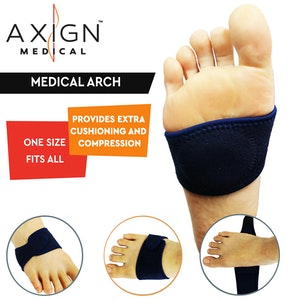Boutique Medical AXIGN Medical Arch Foot Cushion Plantar Fasciitis Foot Orthotic Insert Gel