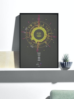 Massif Central Bespoke Illustrations of Your Cycling Achievement