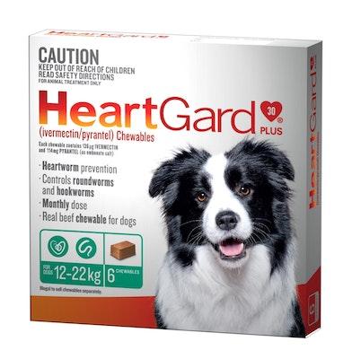 Heartgard Plus Green 12-22kg Medium 6 Pack